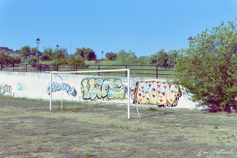 The village football pitch
