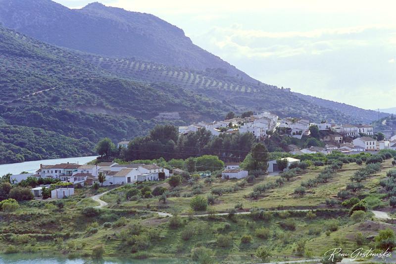 Village by the lake