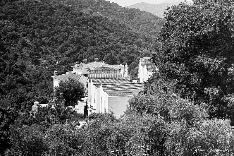 Part of Júzcar nestling in the Genal valley