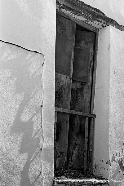Old window shutters on an old abandoned house in Jubrique