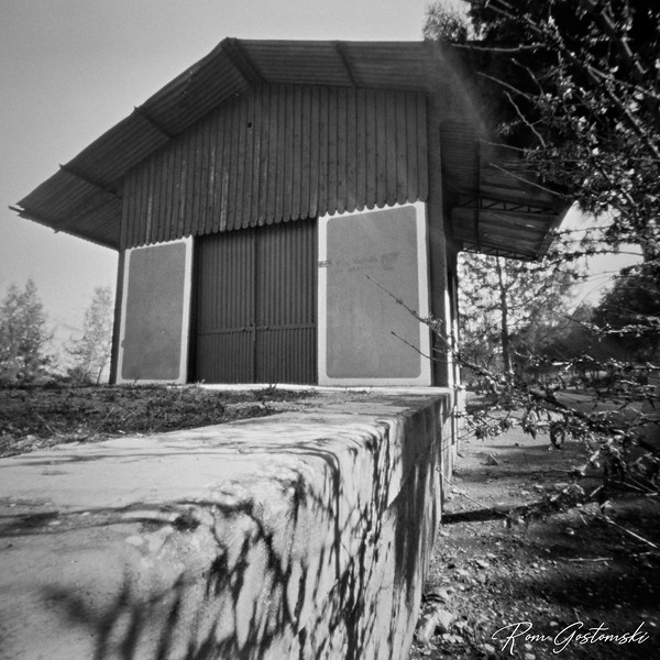 The loading shed at the abandoned Vado Jaén Station