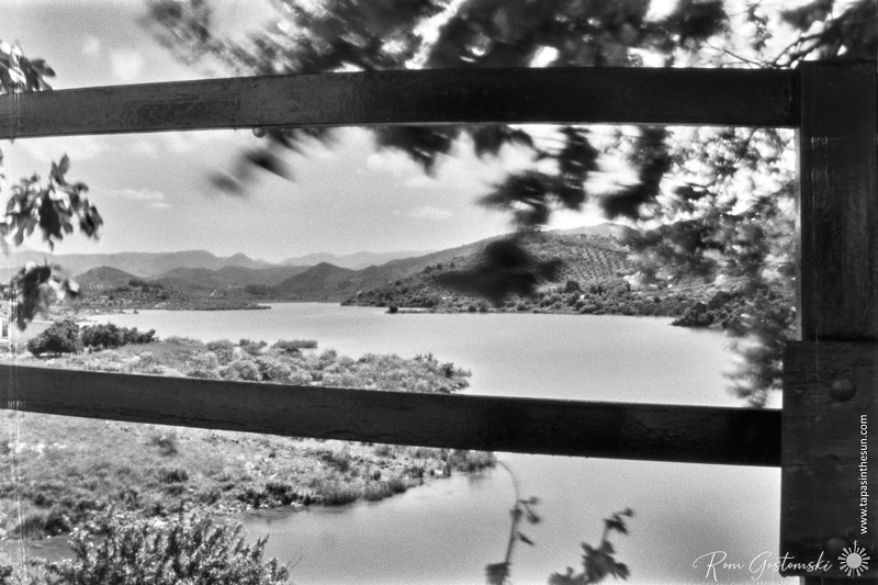 Looking through the railings