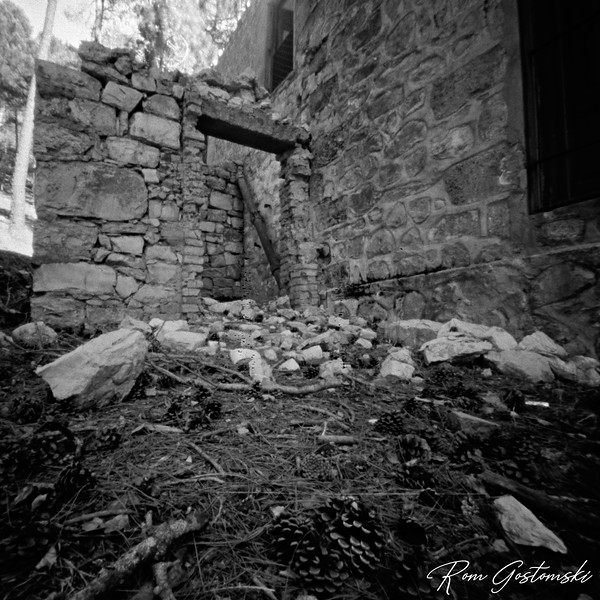 Through the pinhole - ruins