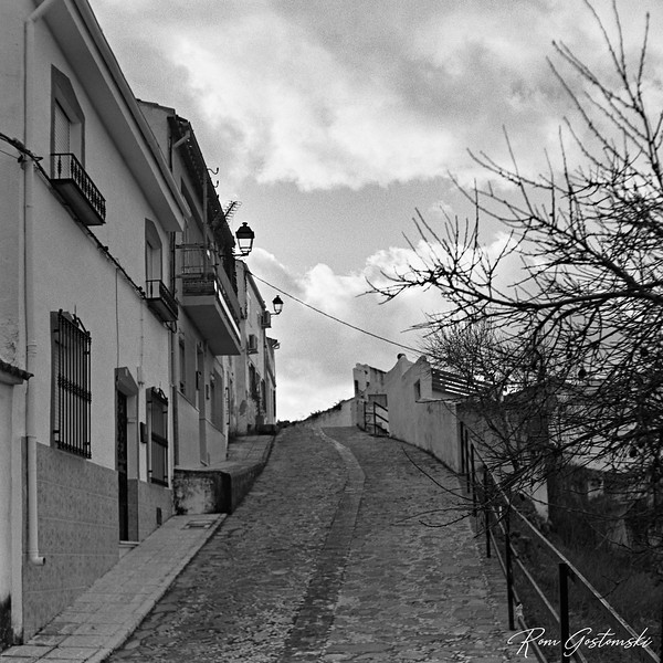 Cobbled village street