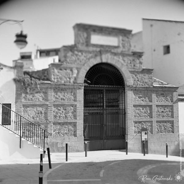 The entrance to Alcaudete market