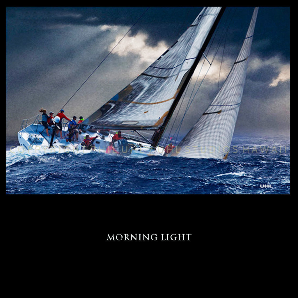 """""""Morning Light""""  Digital Painting of Morning Light  in Hawaii"""