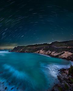 Cove Bay star trails