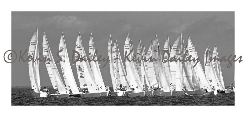 Melges 24 class boats, shot during the Key West Race Week.
