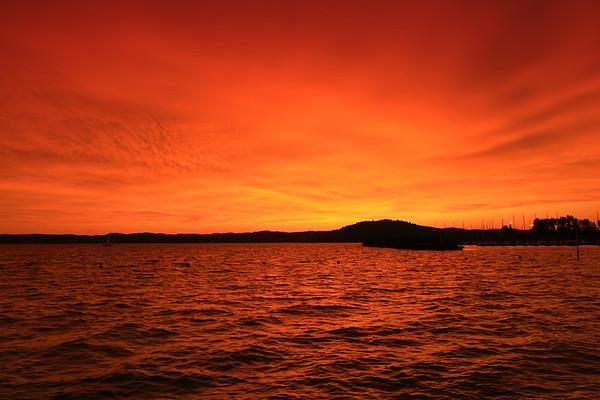 Fiery Fern Ridge Sunset