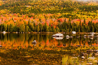 Sandy Stream Pond, Baxter State Park, Maine, Autumn colors