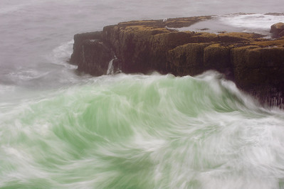 Schoodic Point, located at the southern tip of Schoodic Peninsula during a hurricane warning.  Acadia National Park