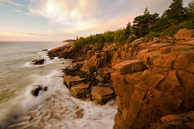 Acadia National Park  sunrise along Otter Cliffs