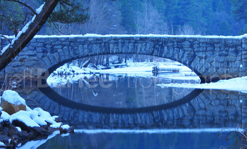 Bridge in Winter, Yosemite