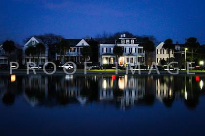 Colonial Lake at dusk