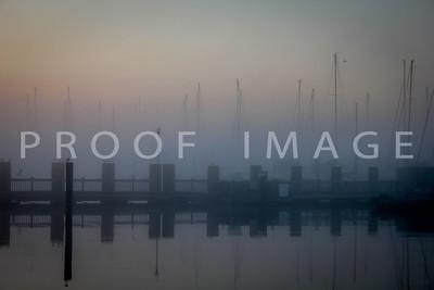 City Marina with Masts