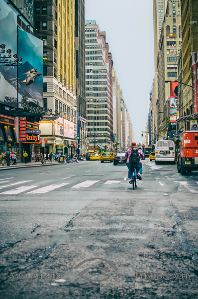 Riding up 8th Avenue