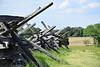 Split-rail fence at Manassas Battlefield Va
