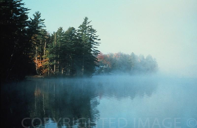 Morning Mist Over Lake Maranacook, Maine
