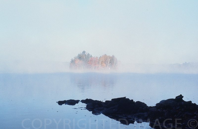 Early Morning on Maranacook Lake, Maine