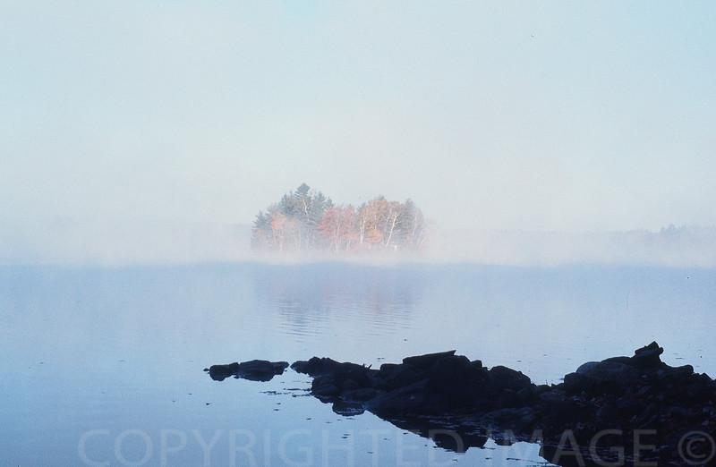 Early Morning on Maranacook Lake, Maine
