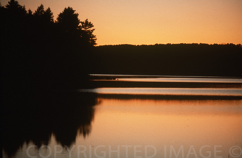 Last Light Over Lake Maranacook, Maine