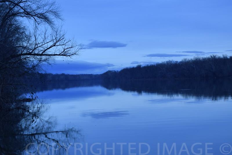 Peaceful Potomac above Washington