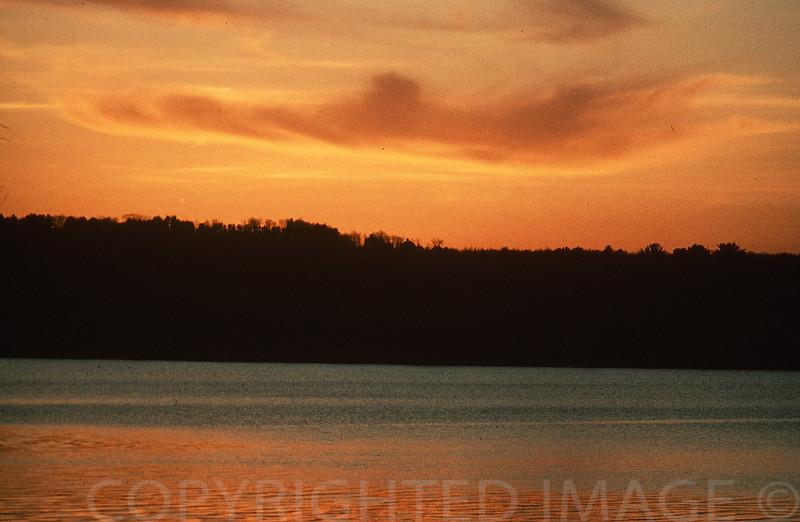 Sunset Over Lake Maranacook, Maine
