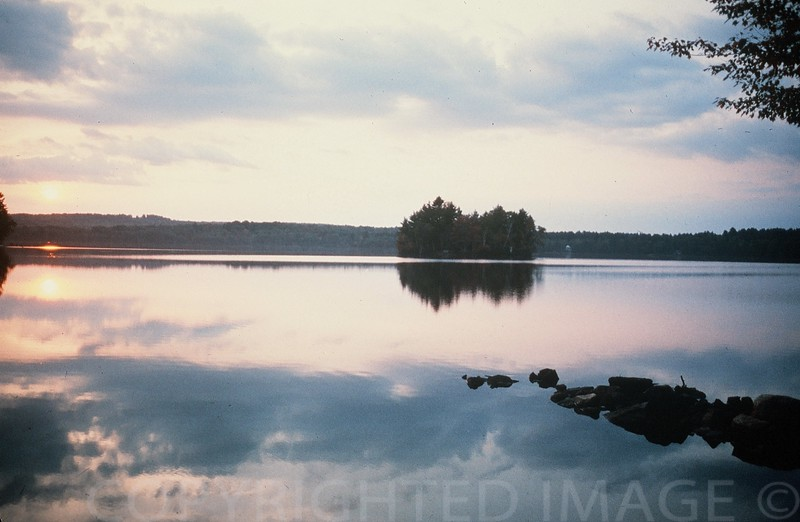 Quiet Evening on Lake Maranacook, Maine