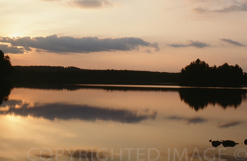 Evening Calm Over Lake Maranacook, Maine