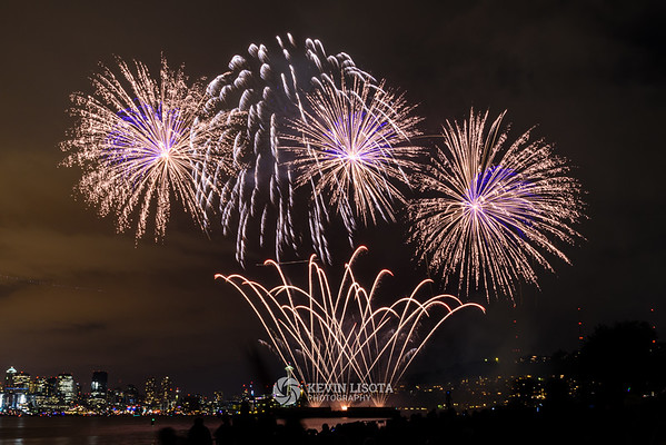4th of July fireworks at Seattle's Gasworks Park 2016