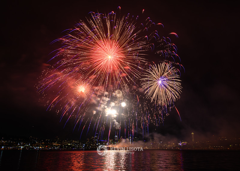 Seattle 4th of July Fireworks from Gas Works Park 2018
