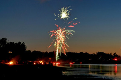 Fireworks at Sodus Point - July 3, 2010