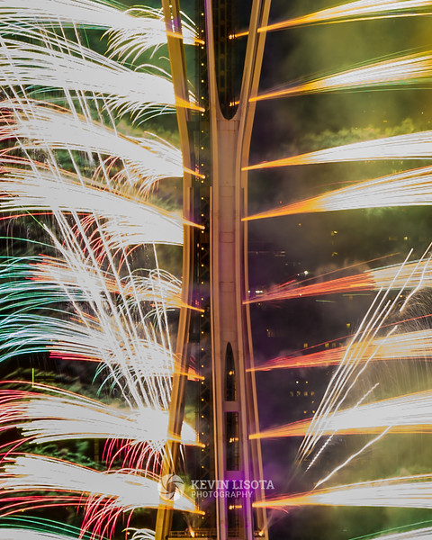 New Year's fireworks at the Space Needle