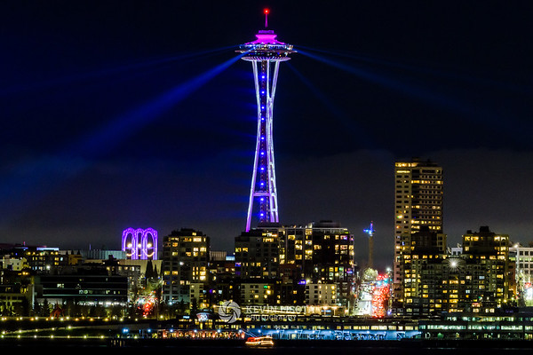 Space Needle New Year's Light Show 2020