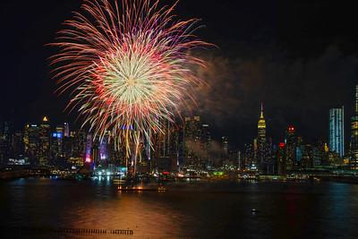 Lunar New Year Fireworks - Manhattan Skyline