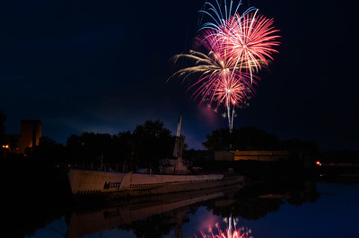 Fireworks over the USS Ling - Hackensack
