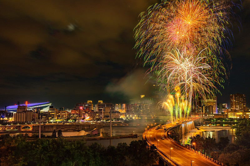2018 Minneapolis Aquatennial Fireworks