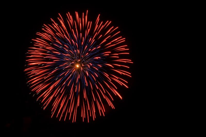Red & Blue Firework
