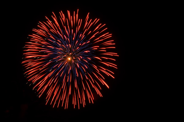 Red & Blue Firework