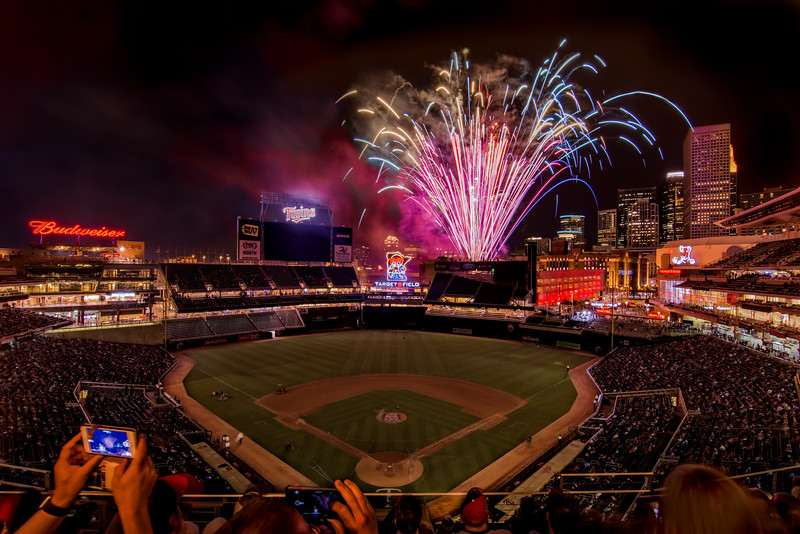 Friday Night Fireworks at Target Field