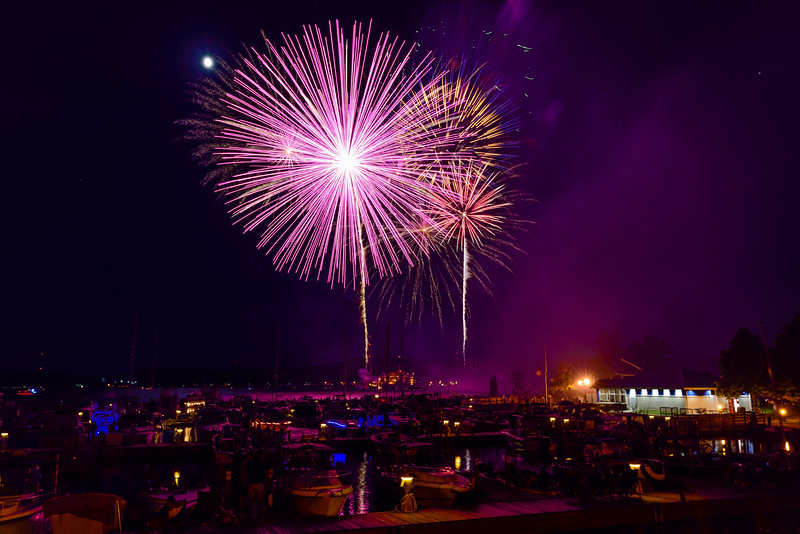 2017 Fireworks over Marquette's Lower Harbor 01