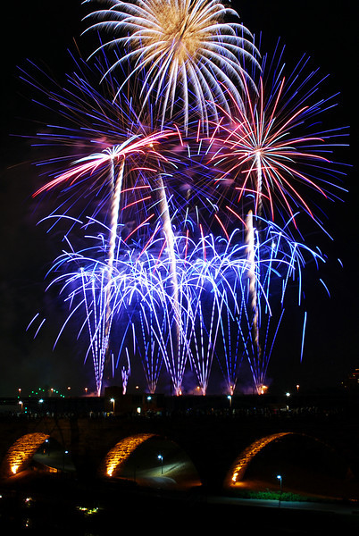 Minneapolis Aquatennial Fireworks 2012