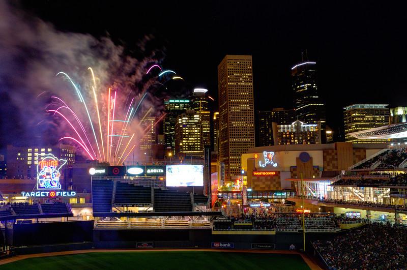 Target Field Fireworks