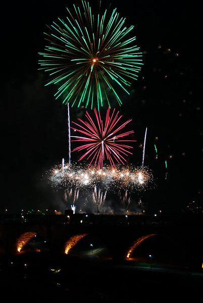 Minneapolis Aquatennial Fireworks 2012