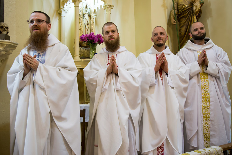 l-r: Fr. Bernardino, Fr. Dismas, Fr. Xavier, Fr. Innocent