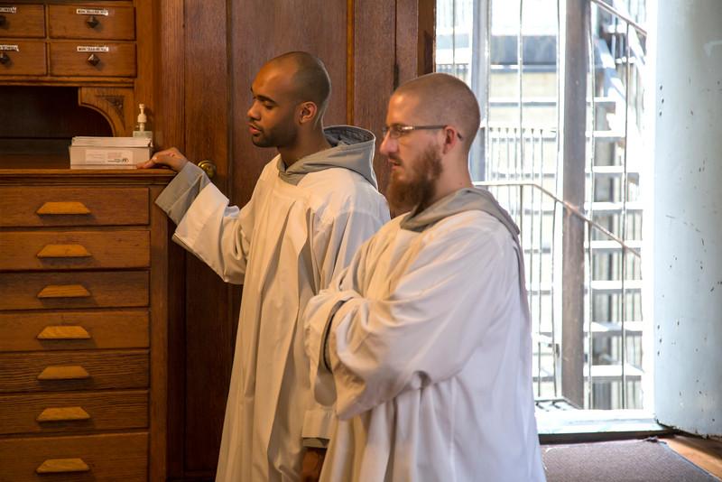 l-r: Br. Pierre Toussaint, Br. Mark Mary