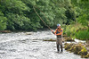 River Drowes Co Leitrim angler flyfishing for salmon