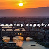 Sun setting over Ponte Vecchio, Florence, Italy – taken from Piazzale Michelangelo.
