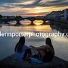 Admiring the sunset, Florence, Italy – taken from Ponte Santa Trinita.