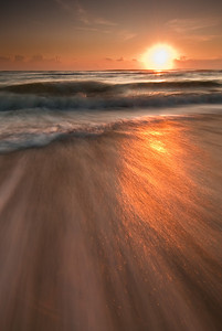Sunrise surf at Cocoa Beach, Florida
